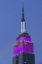 Empire State Building / Purple